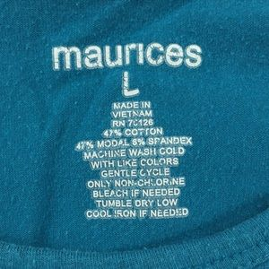 Maurices Tops - Maurices Teal Layering Tank